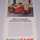 1966 CASE 150 Garden Tractor Mower Color Print Ad