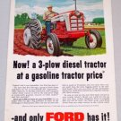 1958 FORD 861 Diesel Tractor Color Art Print Ad