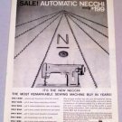 1958 NECCHI Sewing Machine Print Ad