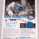 1958 HOMELITE Zip Power Chain Saw Print Ad