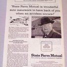 1956 STATE FARM Mutual Insurance Print Ad W.S. Rogers Ainsworth Nebraska