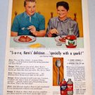 1956 KARO Syrup Color Print Ad Celebrity GEORGE GOBEL