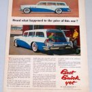 1956 BUICK Estate Wagon Automobile Color Art Print Car Ad