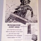 1956 WINCHESTER Super Speed Shotgun Shells Hunting Dog Duck Art Print Ad