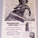 1956 WINCHESTER Super Speed Shotgun Shells Hunting Dog Duck Art Print Ad