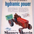 1956 MASSEY HARRIS MH50 Farm Tractor Color Art Print Ad