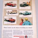 1956 IH INTERNATIONAL Trucks Color Print Ad