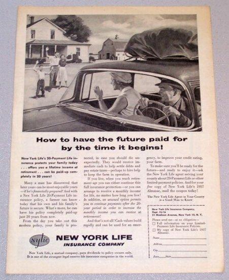 1956 New York Life Insurance Company Print Ad