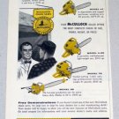 1956 McCULLOCH Power Chain Saws Color Print Ad