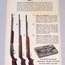 1956 REMINGTON 22 Short ROCKET Rifle Shells Print Ad
