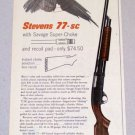 1956 Savage STEVENS 77-sc Repeating Shotgun Print Ad