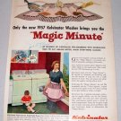 1957 KELVINATOR Magic Minute Washer Color Print Ad