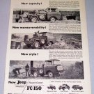 1957 Willys JEEP FC150 Pickup Truck Print Ad