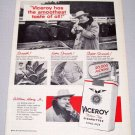 1957 VICEROY Cigarettes Tobacco Print Ad Cambridge Ill William Henry Jr