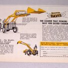 1957 DAVIS Loader Backhoe Tractor Attachment Print Ad