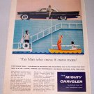 1958 CHRYSLER Saratoga 2DR Hardtop Automobile Color Print Car Ad