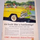 1958 GMC Pickup Truck 2 Page Color Art Print Ad