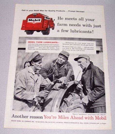 1958 Socony Mobil Oil Print Ad