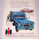 1958 International A160 Stake Bed Truck Color Art Print Ad
