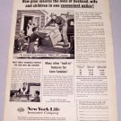 1958 New York Life Insurance Print Ad - Family Size Package