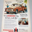 1956 International A100 Pickup Truck Color Art Print Ad