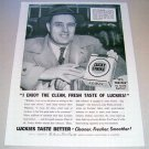 1955 Lucky Strike Cigarettes Print Ad Chet Williams Waukesha Wisconsin