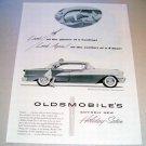 1955 Oldsmobile Super 88 Holiday Sedan Automobile Print Car Ad
