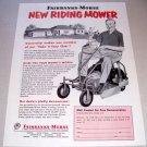 1955 Fairbanks Morse Riding Lawn Mower Print Ad
