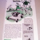 1955 Worcester Rotary Type Lawn Mower Print Ad