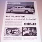 1955 Chrysler Windsor Deluxe 4 Door Sedan Automobile Print Car Ad