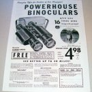 1955 Powerhouse Binoculars Print Ad