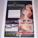 1955 Quaker Oats Instant Oatmeal Color Print Ad