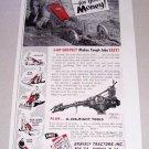 1955 Gravely Cultivator Tiller Print Ad