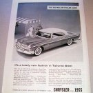 1955 Chrysler Windsor Deluxe Automobile Print Car Ad