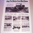 1955 Willys Jeep 4 Wheel Drive Universal Print Ad