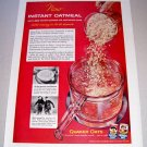 1955 Instant Oatmeal Quaker Oats Print Color Ad