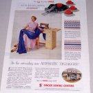 1955 Singer Sewing Machine Print Ad Automatic Zigzagger