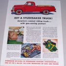 1955 Color Print Ad Studebaker Pickup Truck