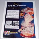 1955 Color Print Ad Quaker Oats Instant Oatmeal