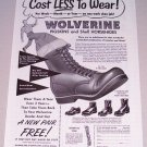 "1955 Print Ad Wolverine 8"" Field Boots"