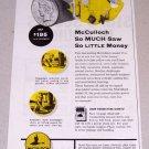 1954 McCulloch Model 33 Farm Chain Saw Print Ad