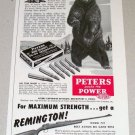 1954 Print Ad Peters High Velocity 30-06 Springfield Shells Bear Animal Art