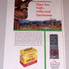 1954 Color Print Ad Winchester Super Speed Shotgun Shells Duck Hunting Art