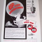 1954 Print Ad AC Spark Plugs Hot Air Baloon Horse Art