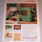 1959 Color Print Ad Singer Portable Model Sewing Machine