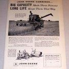1959 Print Ad John Deere 45 Combine Farming Equipment