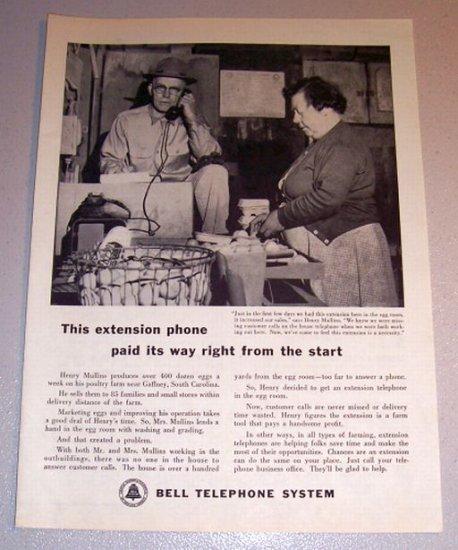 1959 Print Ad Bell Telephone System Henry Mullins Gaffney South Carolina