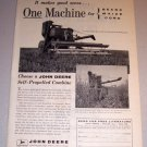 1959 Print Ad John Deere 55 Self Propelled Combine Farming Equipment