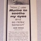 1959 Print Ad Murine Eye Drops Golf Celebrity Sam Snead