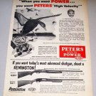 1956 Print Ad Peters Long Range 12ga Shotgun Shells Water Fowl Duck Hunting Art